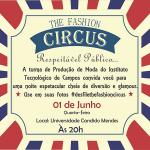 convite desfile Circus